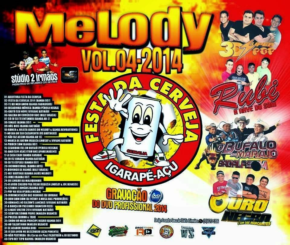 CD Festa Da Cerveja 2014 Melody Vol 04 (Studio 2 irmãos e Fabricio incomparavel)