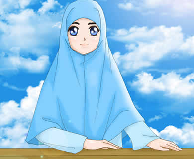 Kartun jilbab muslimah