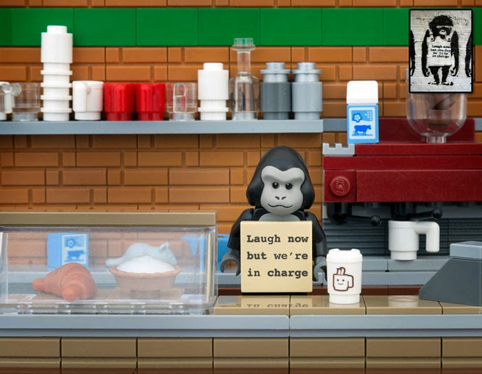 Jeff Friesen's does Banksy's iconic works in Lego