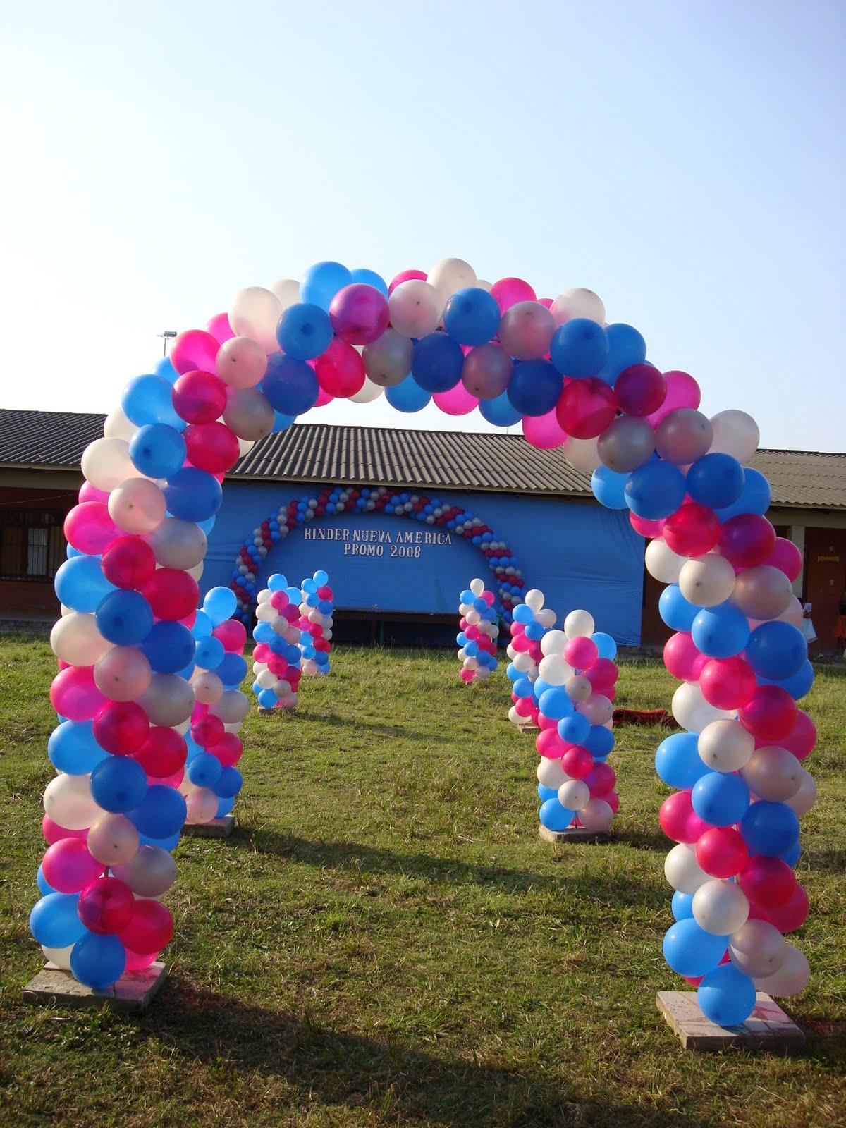 Fondos de globos decoraciones con para fiestas infantiles - Decoraciones con globos ...