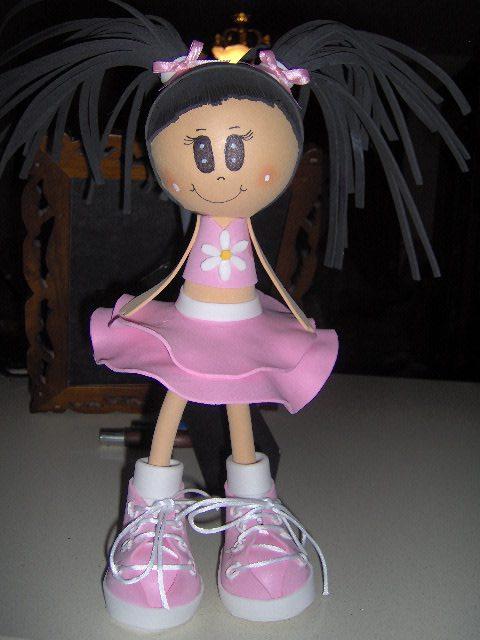 Muñeca de goma eva patrones - Imagui