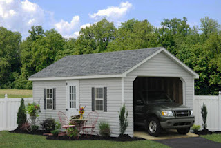 Amish built single car garage