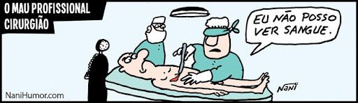 Tiras: O mau profissional. cirurgião