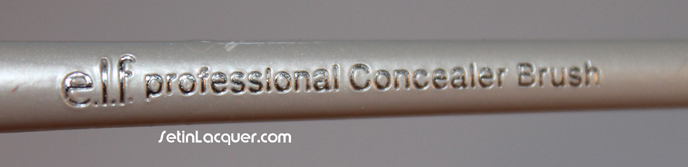 Elf concealer brush used for nail polish clean up