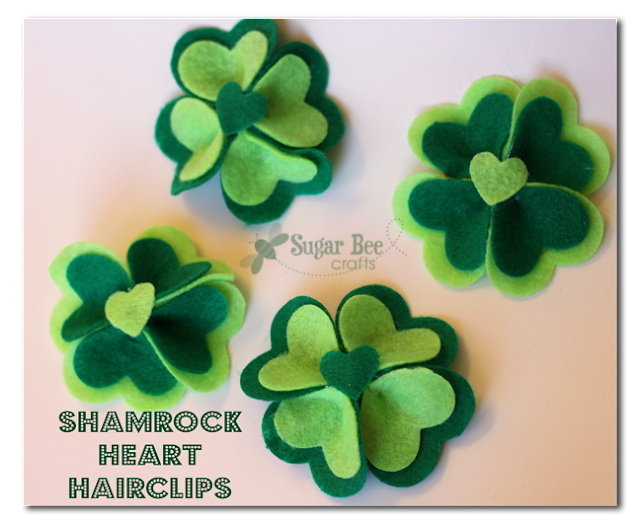 Shamrock Heart Hair Clips by Mandy Beyeler