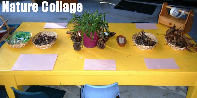 Why not add some natural materials to your collage table