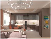 Дизайн интерьера трёхкомнатной квартиры