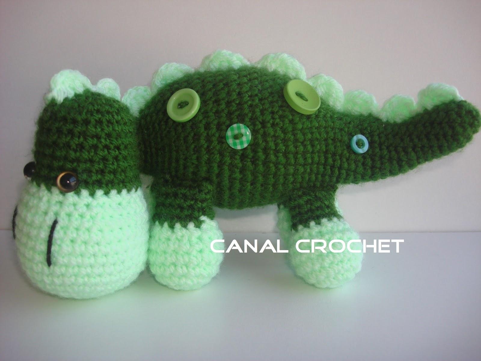 CANAL CROCHET: Dino bebe amigurumi