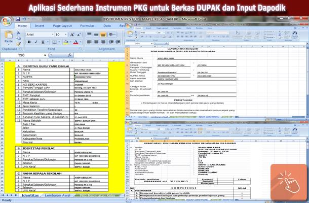 Aplikasi Instrumen PKG dengan Microsoft Excel untuk Berkas DUPAK dan Input Dapodik