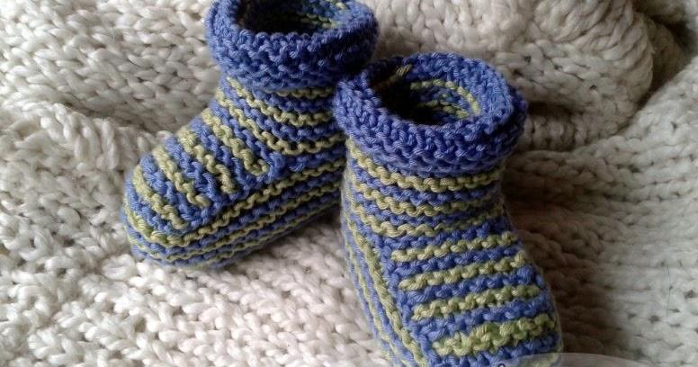 Ajeng Belajar Merajut: Rajut Free Knitting pattern : Boy Baby Booties