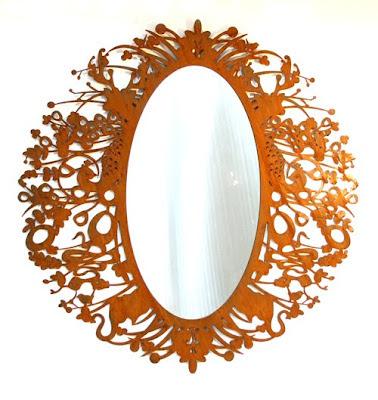 Corten Steel Mirror