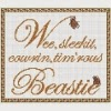 to a mouse robert burns quote cross stitch chart