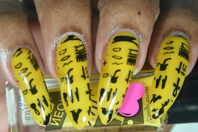Egyptian Symbols Stamping Nail Art