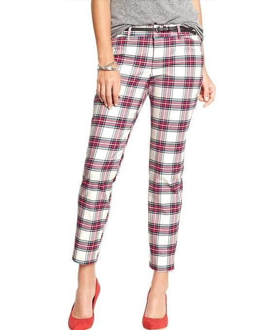 Old Navy Plaid Pixie Pants Pants | $34 | Old Navy