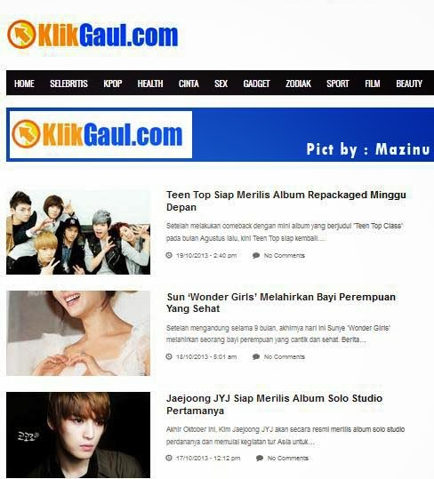 Klikgaul.com Portal Berita artis, K-Pop, Zodiak, Love Paling Keren dan Update