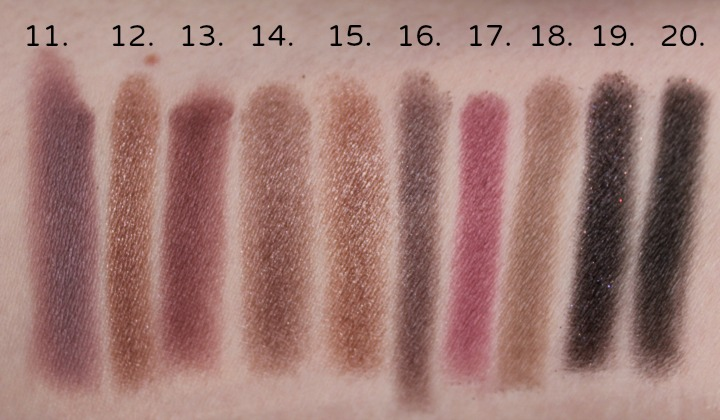 Coastal Scents Revealed 2 Eyeshadow Palette swatch swatches