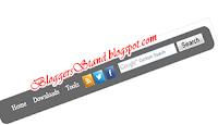 CSS3 Social Icons Navigation Bar With Google Search Box