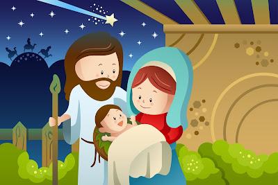 Jesús María y José La Sagrada Familia Ilustración