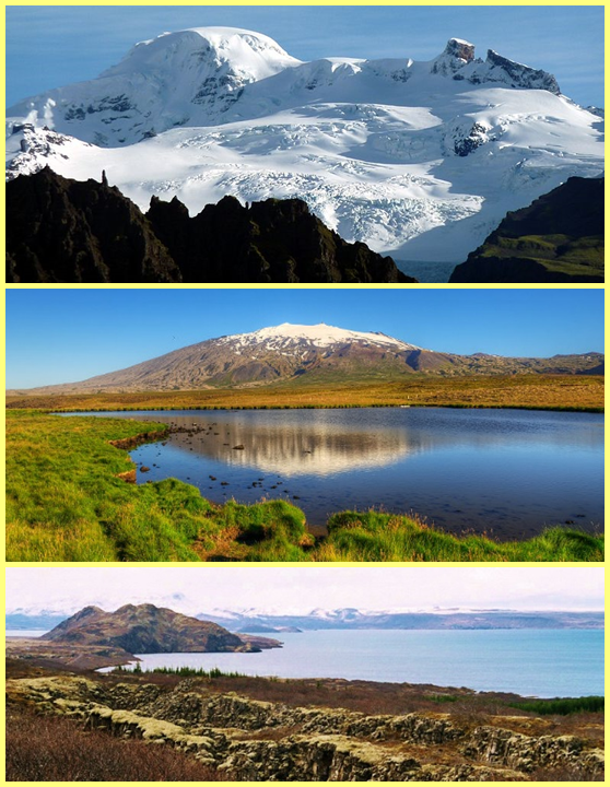 Parques Vatnajökull, Snæfellsjökull y Þingvellir