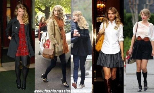 College look Taylor Swift