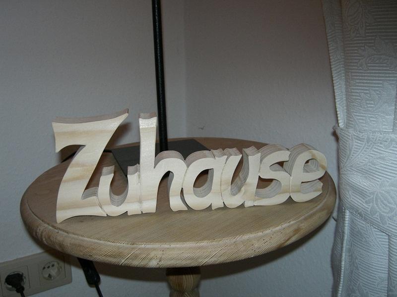 dekomanie s gevorlage schriftzug zuhause. Black Bedroom Furniture Sets. Home Design Ideas