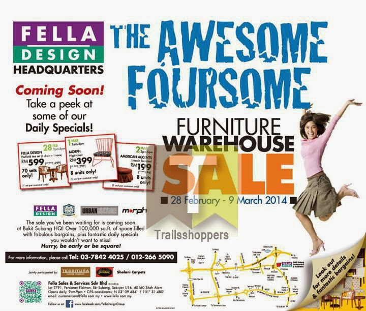 Fella Design Furniture Warehouse Sale Shah ALam