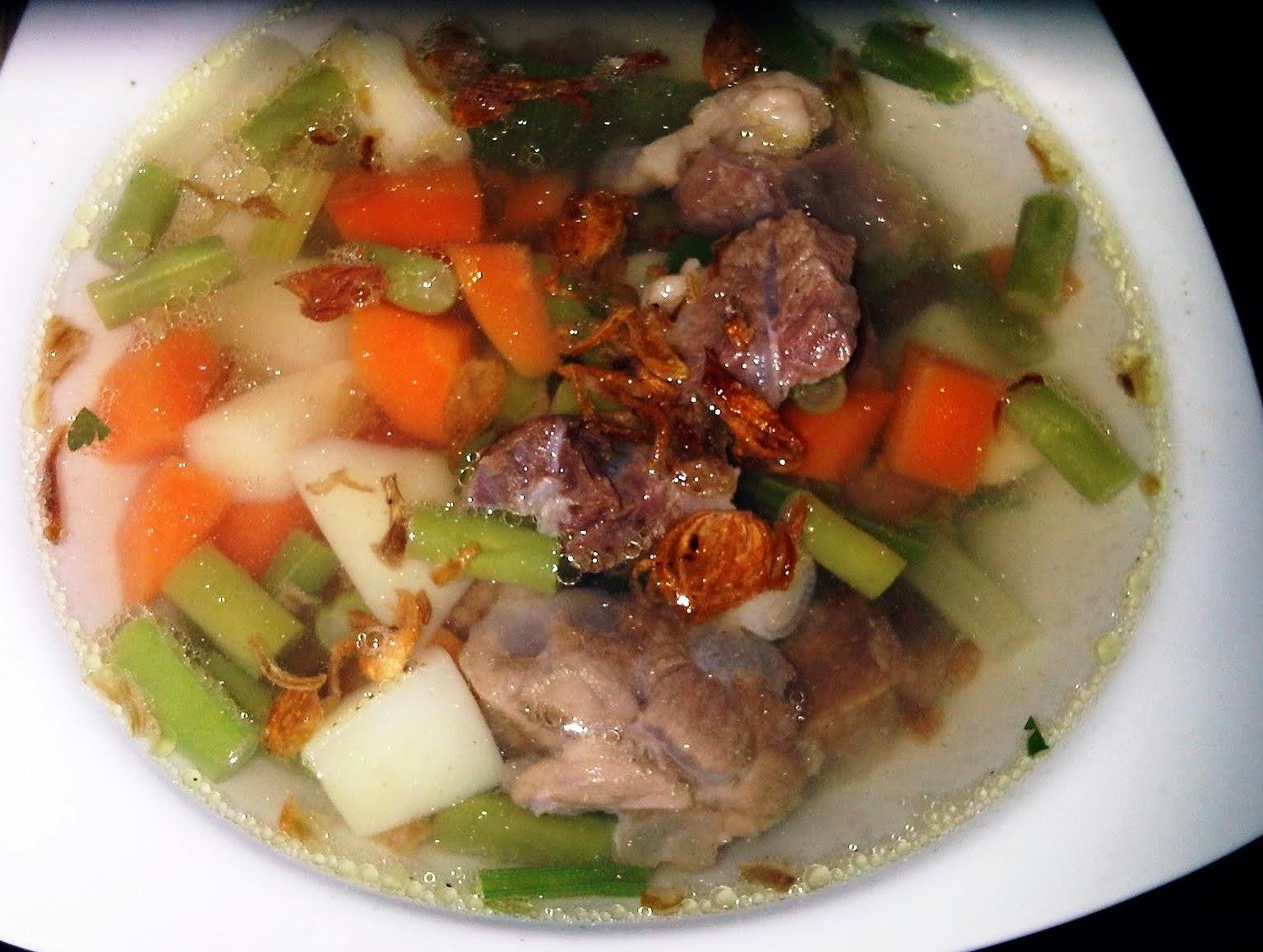 Resep Membuat Masakan SAYUR SOP Daging Sederhana