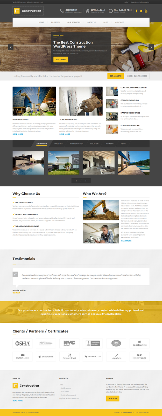 WordPress Construction Template