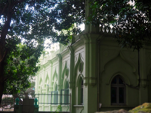 Exterior of Jamia Mosque, Central, Hong Kong