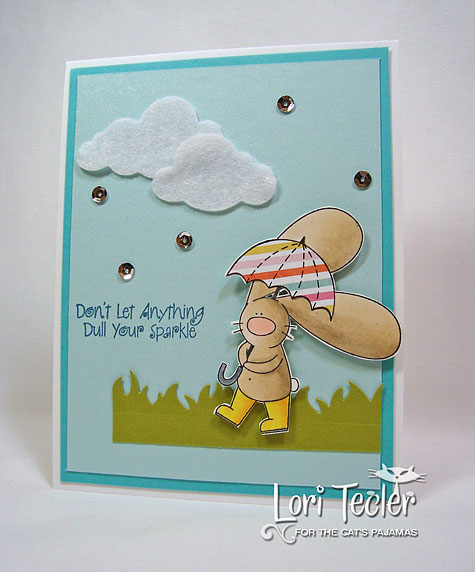Don't Let Anything Dull Your Sparkle-designed by Lori Tecler-Inking Aloud-stamps and dies from The Cat's Pajamas