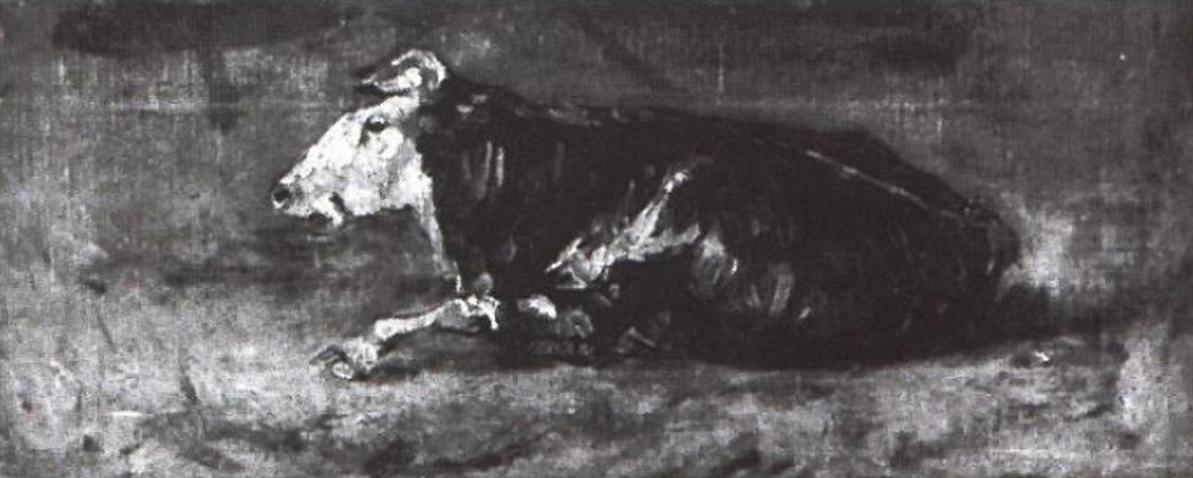 Lying Cow F 0001c JH 0389 by Vincent van Gogh