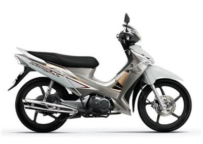 Honda Future X FI tem mới màu trắng
