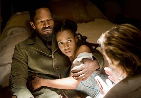 Kerry Washington y Jamie Foxx en Django Desencadenado (Crítica)