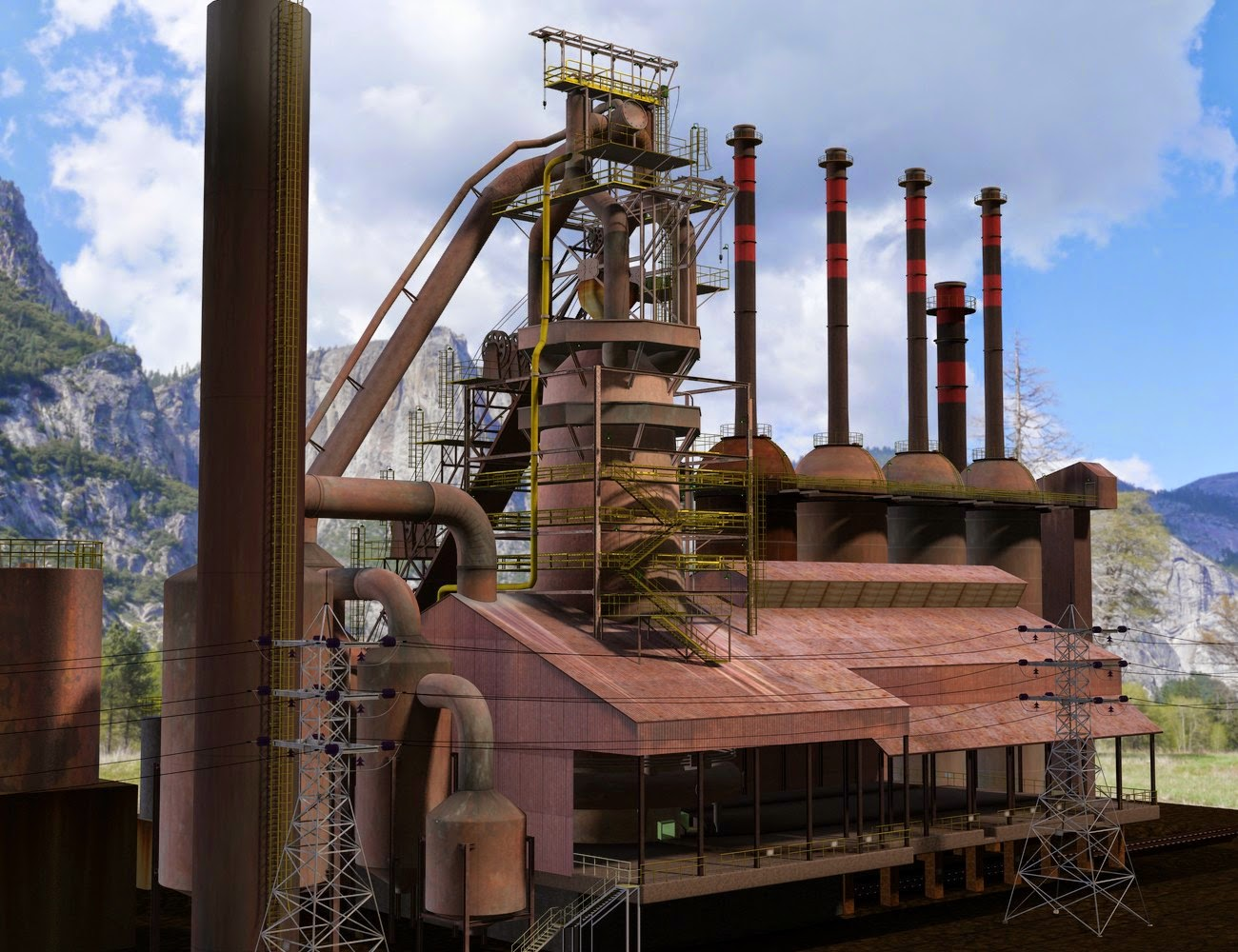 Steel Town haut fourneau