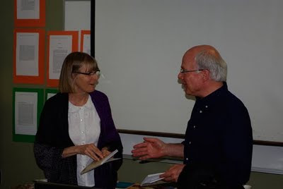 Hugh Hazelton meeting and reading 1st time with Lynn Davies