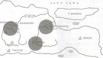 peta penemuan manusia purba indonesia