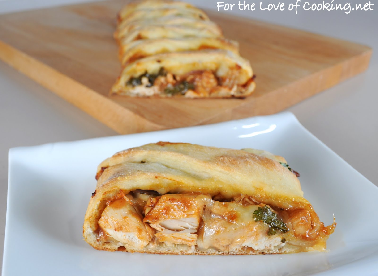 Barbecue Chicken Pizza Braid | For the Love of Cooking