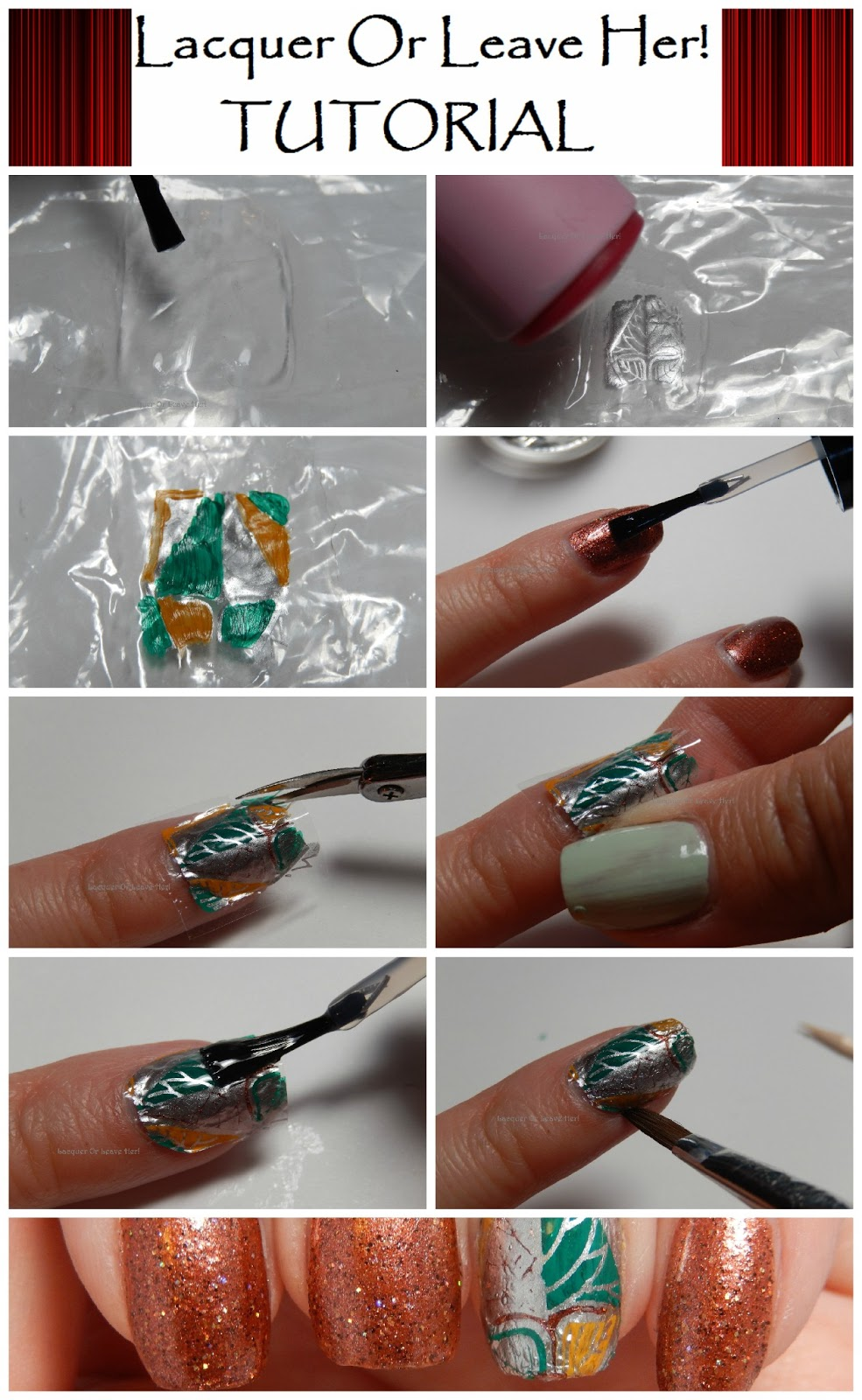 Lacquer Or Leave Her Tutorial Homemade Decal Nail Wraps - How to make nail decals at home
