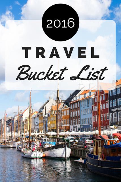 2016 Travel Bucket List | Adelante