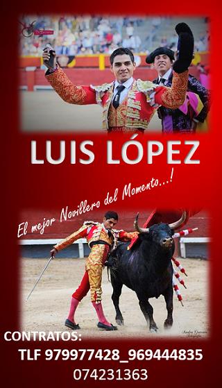 LUIS LÓPEZ - MATADOR DE NOVILLOS
