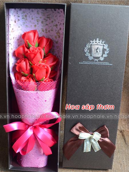Hoa sáp thơm hộp 11 bông