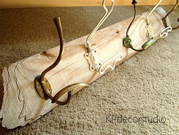 Comprar perchero de madera artesanal estilo rústico, escandinavo, provenzal