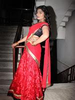 Sowmya in half saree at Hora Hori audio-cover-photo