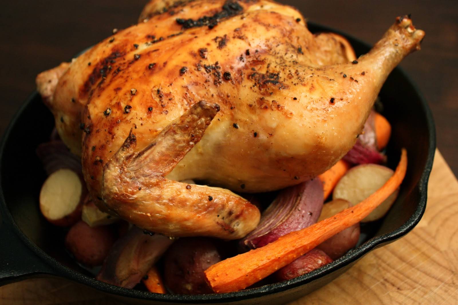 Have Her Over For Dinner: Whole Roasted Chicken with Vegetables