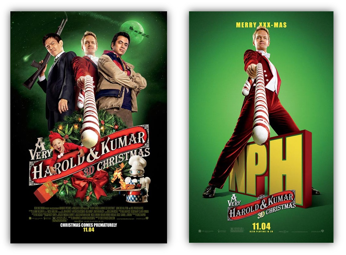 four new posters for a very harold kumar christmas - A Very Harold Kumar 3d Christmas Cast