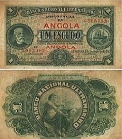 REPÚBLICA PORTUGUESA - PROVÍNCIA DE ANGOLA - 1 ESCUDO, ANO 1921