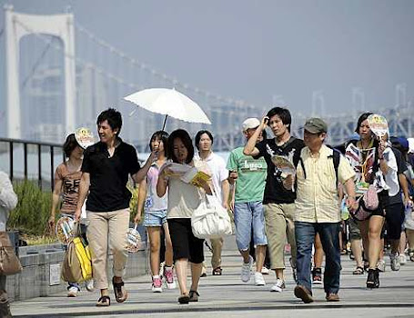 34-degree heat in Tokyo