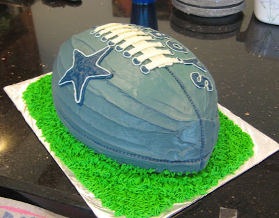 Dallas Cowboys Football Cake - Angle 1