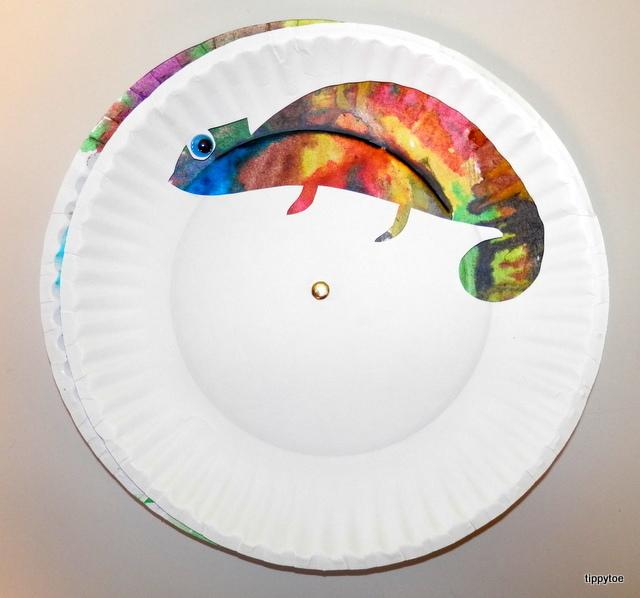 Colorful Chameleon Craft