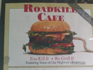 Brendan Spaar likes the roadkill cafe